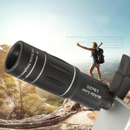 18x25 Hiking Concert Camera Lens Telescope Monocular Dual