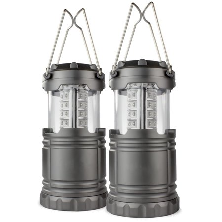2 Pack Portable Outdoor LED Lantern Camping Lanterns, Water Resistant Emergency Tent Light for Backpacking, Hiking, Fishing ()