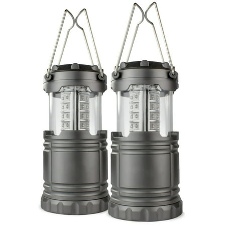 2 Pack Portable Outdoor LED Lantern Camping Lanterns, Water Resistant Emergency Tent Light for Backpacking, Hiking, Fishing - Lighted Lanterns