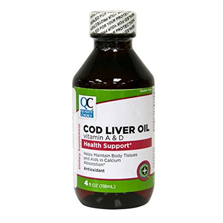5 Pack Quality Choice Cod Liver Oil with Vitamin A & D 4oz