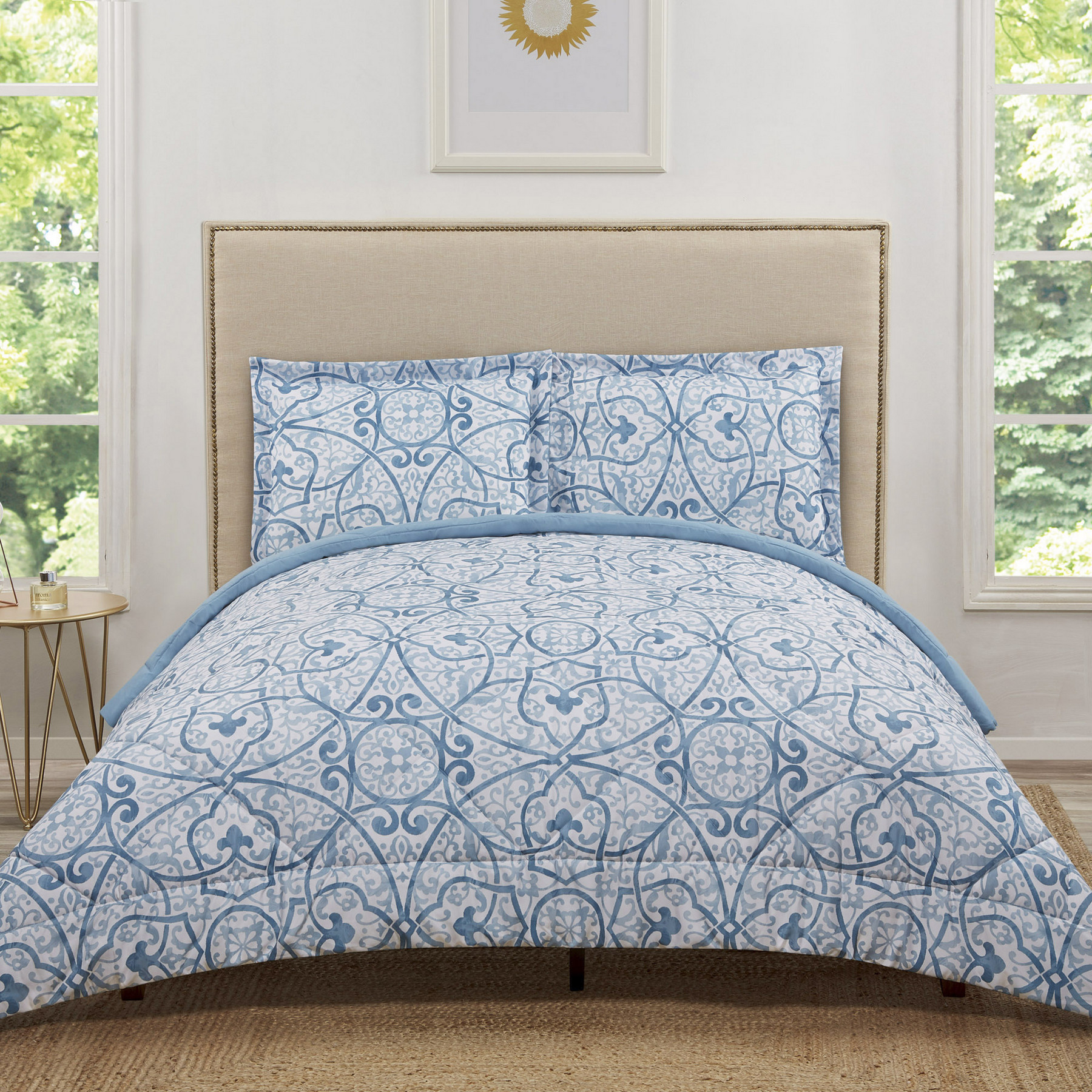 Truly Soft Marcello Blue Twin Extra Long Comforter Set