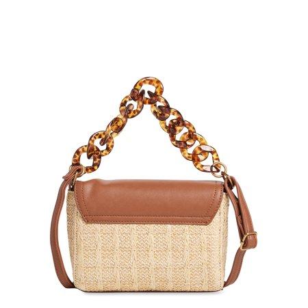 Scoop Resin Chain Crossbody Bag