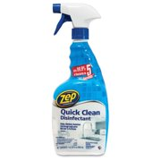 Zep Commercial Quick Clean Disinfectant - Spray - 0.25 Gal [32 Fl Oz] - Bottle - 1 Carton - Yellow (zuqcd32ct)