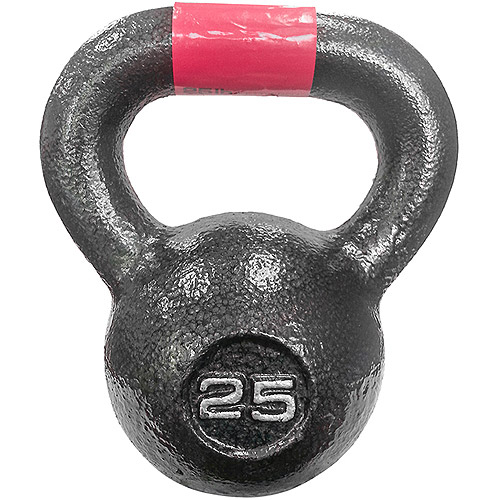 Marcy 25 lb Cast Iron Kettle Bell: HKB-025  - Sold Individually