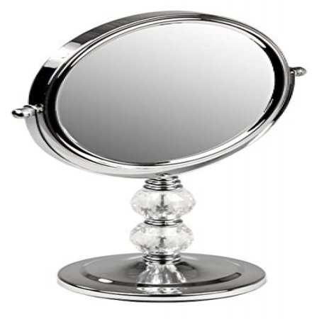 Home Basics Chrome Cosmetic Mirror with Crystals