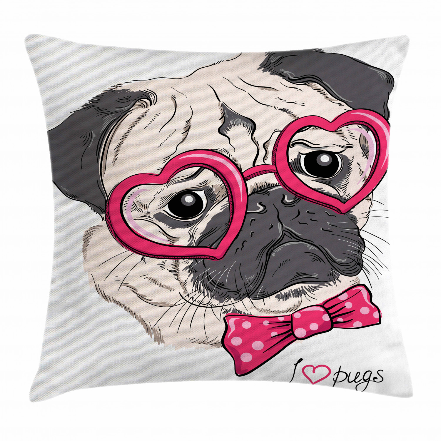 Pug Black Shaped Pillow Multi-color Specialty