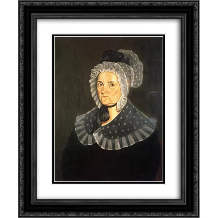 George Caleb Bingham 2x Matted 20x24 Black Ornate Framed Art Print 'Jane Breathitt Sappington (Bingham Hudson)