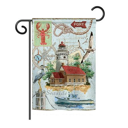 "Breeze Decor - Seaside Lighthouse Coastal - Everyday Nautical Impressions Decorative Vertical Garden Flag 13"" x 18.5"" Printed In USA"