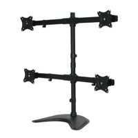 NavePoint Quad LCD Curved Monitor Mount Stand Free Standing With Adjustable Tilt Holds 4 Monitors Up To 27-Inches Black