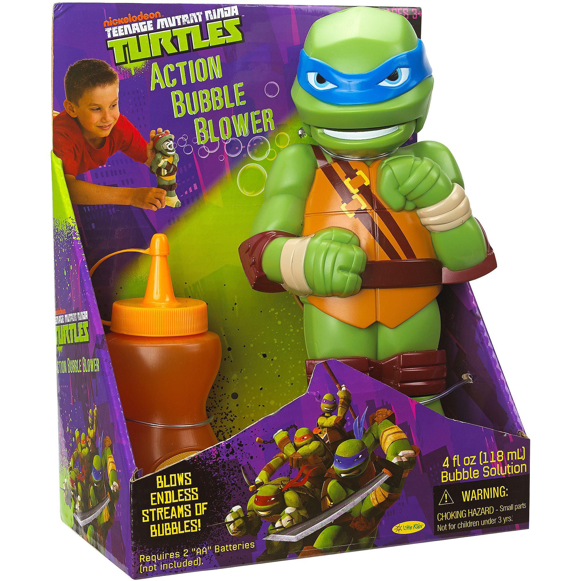 Little Kids Teenage Mutant Ninja Turtles Action Bubble Blower, Leonardo