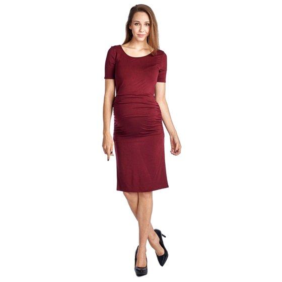 3a2d26e36de BASILICA - Women s Plus Size Short Sleeve Soft Side Ruched Maternity Dress