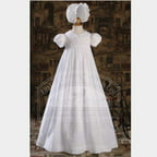 Baby Girls White Handmade Bonnet Christening Dress Outfit 3M-12M