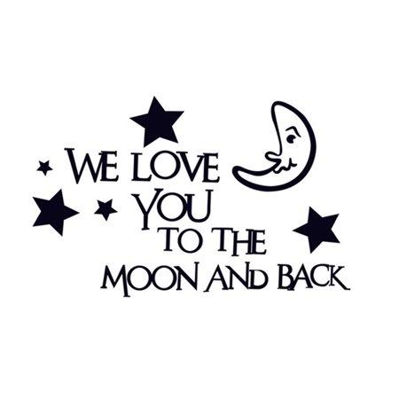 Halloween Full Moon Wallpaper (English Sentences Star Moon Pattern Removable Wall Sticker Wallpaper)