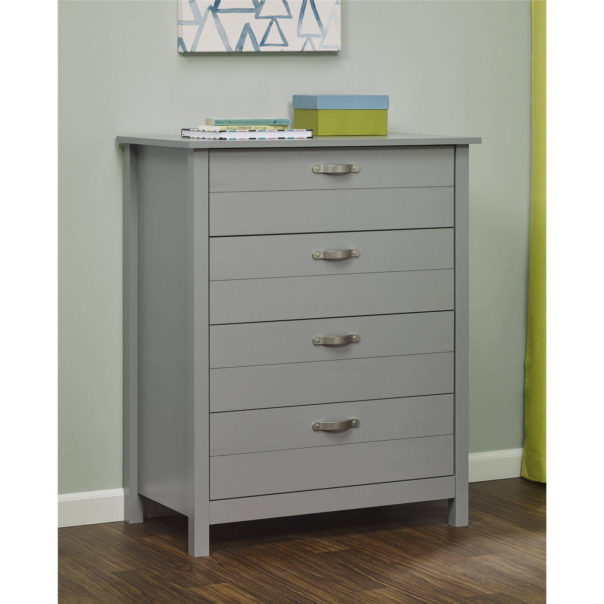 mid itm furniture chest century drawers bedroom four dresser wood walnut drawer white modern