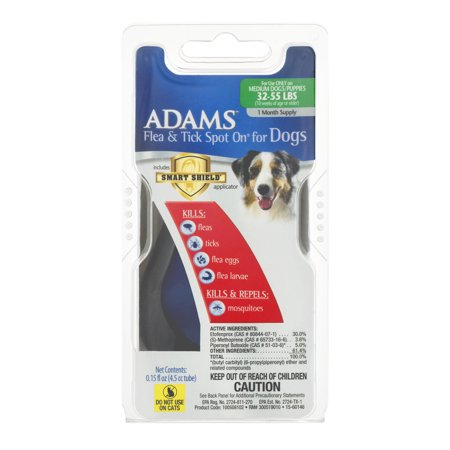 Adams Flea & Tick Spot On For Dogs 32-55 LBS, 1.0