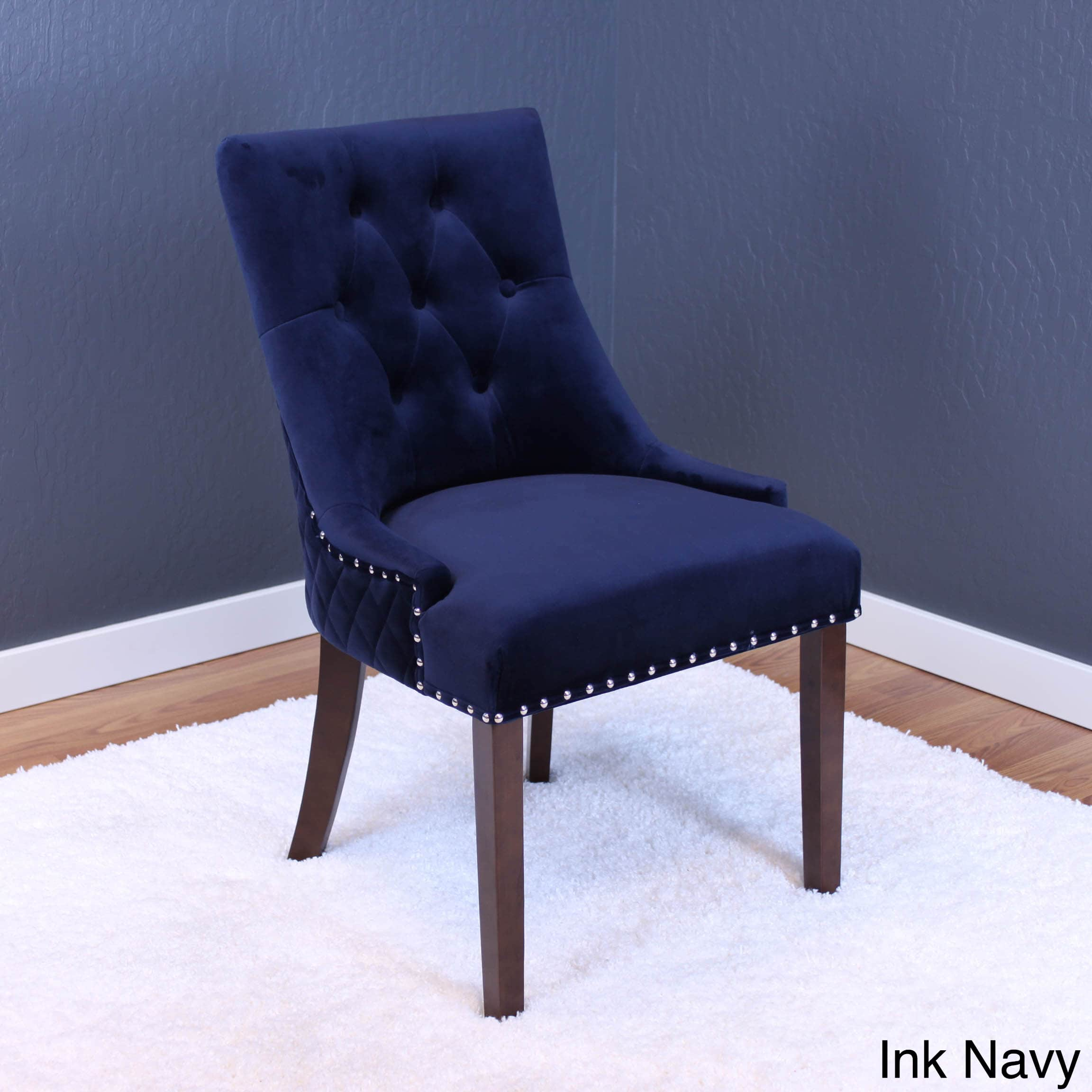 blue velvet dining chairs Lemele Sky Blue Velvet Dining Chairs (Set of 2)   Walmart.com blue velvet dining chairs