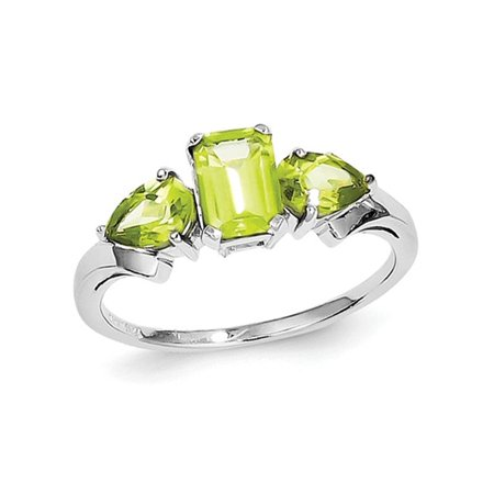 Natural Peridot Ring 0.95 Carat (ctw) in Sterling Silver - image 2 de 2