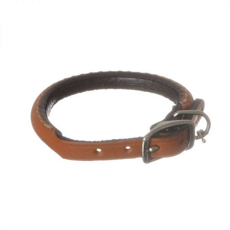 Circle T Leather Round Collar - Tan 10 Neck