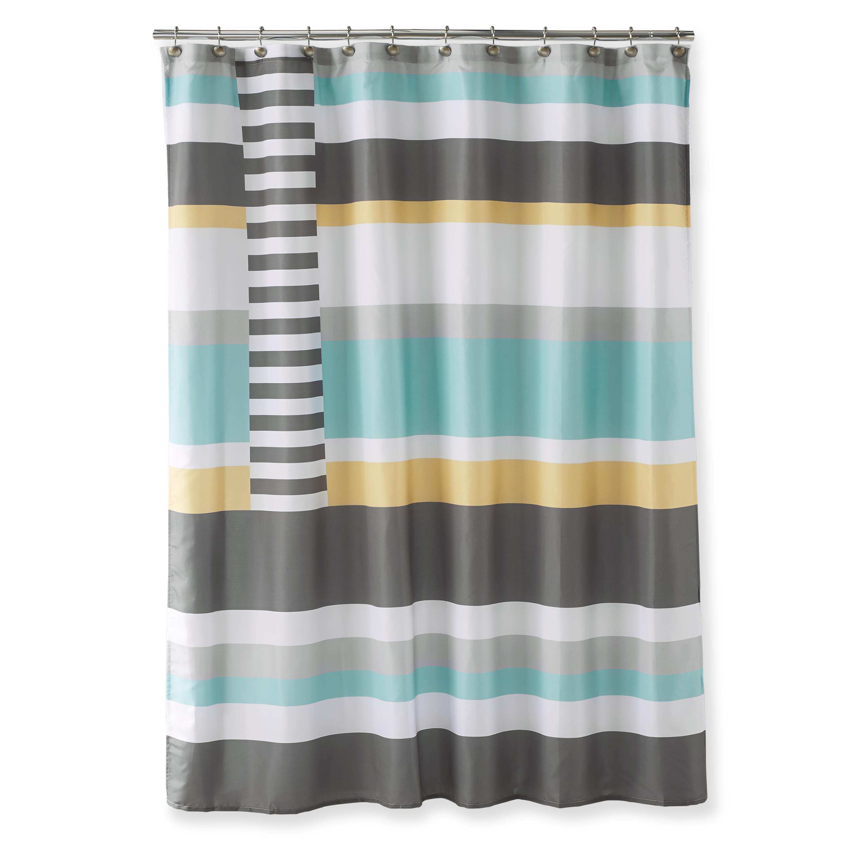 Better Homes & Gardens Blocked Stripes Shower Curtain