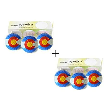 Navika Golf Balls- Colorado State Flag Combo (6-Pack) - image 1 de 1