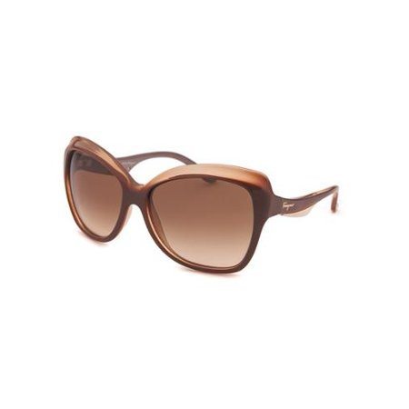 Salvatore Ferragamo SF706S 261 Caramel Gradient Square Sunglasses Salvatore Ferragamo Square Women's