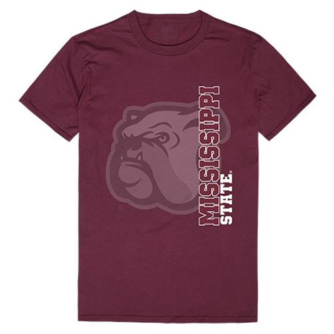 W Republic Apparel 515-133-327-03 Mississippi State University Ghost Tee, Maroon - Large
