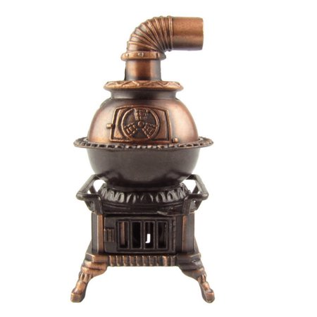 1:12 Scale Model Miniature Pot Belly Stove Dollhouse Accessory Pencil Sharpener ()