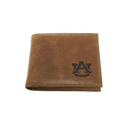 Auburn Wallet - Zeppelin Products University of Auburn Tan Embossed Logo Passcase Wallet