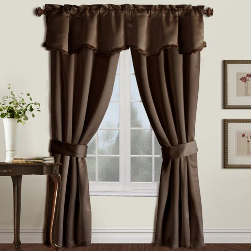 United Curtain Company Burlington 5-Piece Window Set United Curtain Company Burlington 5-Piece Window Set: 52-in x 84-in