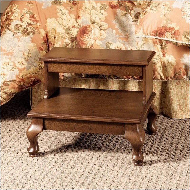 Bowery Hill Antique Cherry Attic Bed Steps