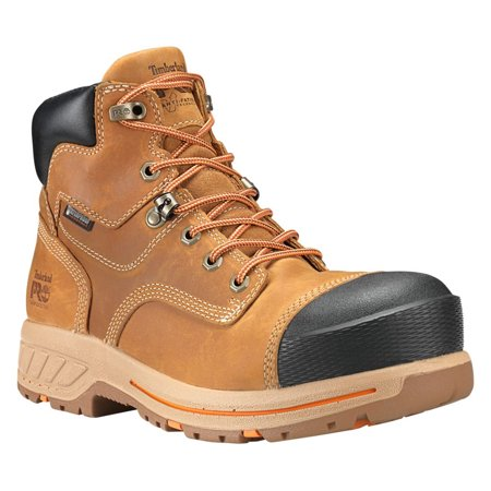 """timberland pro men's helix hd 6"""" composite toe waterproof industrial & construction shoe, distressed wheat full grain leather, 12 m us"""