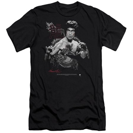 Bruce Lee The Dragon Officially Licensed Adult Slim Fit T Shirt