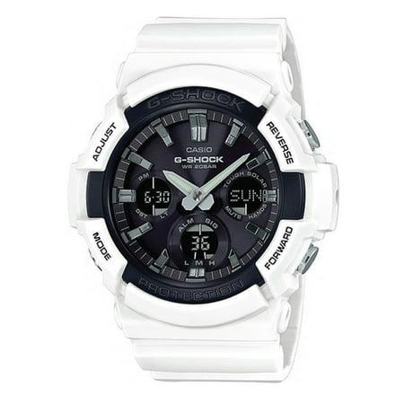 Casio #GAS100B-7A Men's Analog Digital Alarm Chronograph White G Shock Watch