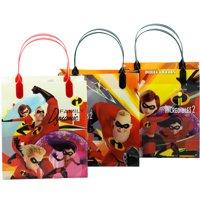 "Disney Incredibles 12 Party Favor Reusable Medium Goodie Gift Bags 8"""