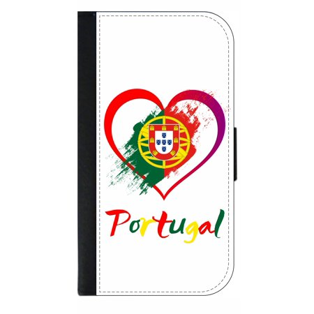 Portugal flag Phone Case Compatible with the Samsung Galaxy s9+ / s9 Plus - Wallet Style with Card Slots
