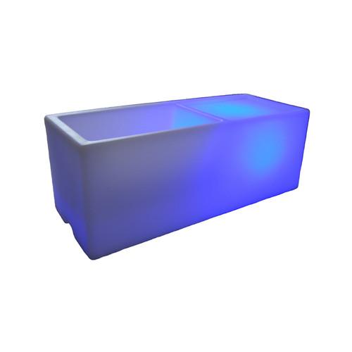 100 Essentials Wireless Illuminated Rectangular Ice Bucket by Overstock
