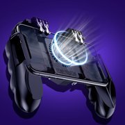 Mobile Game Controller with Cooler Fan,Stretchable Gamepad L1R1 Aim Triggers Fire Buttons Sensitive Shoot with 4 Joysticks for PUBG/Rules of Survival/Knives Out Fit iOS Android 4 to 6.3'' Phone