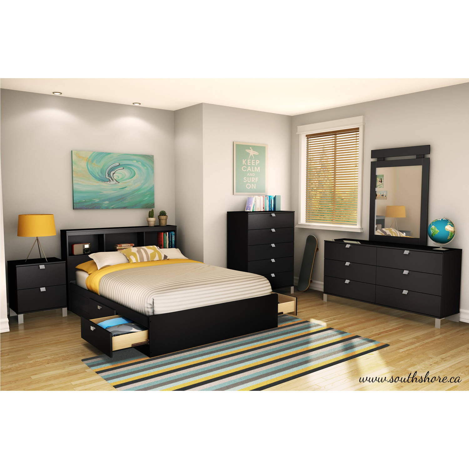 South Shore Bedroom Furniture South Shore Spark Full 54 Bookcase Headboard Multiple Finishes