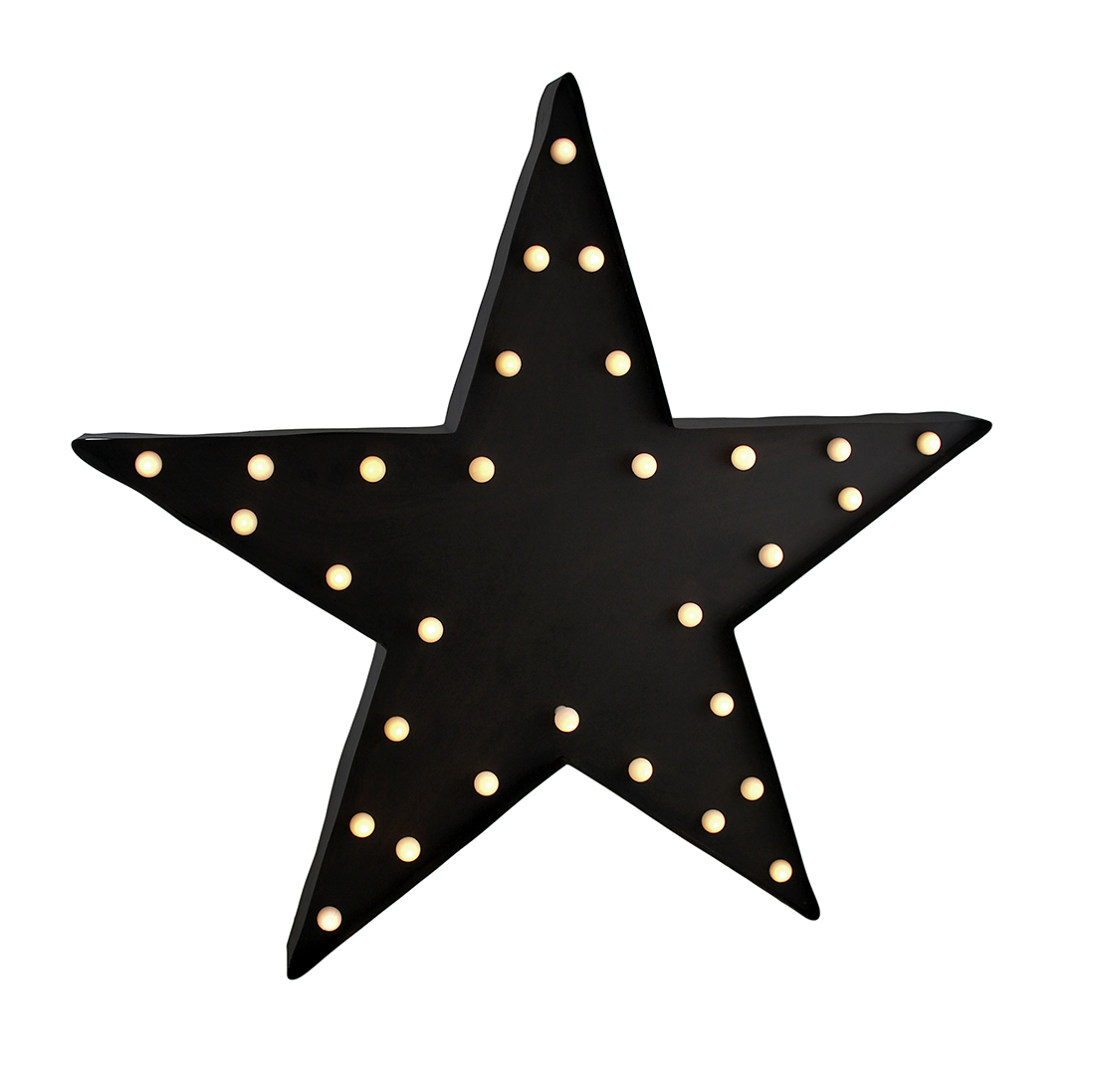 Black Marquee Star Metal LED Wall Sculpture by MAYRICH COMPANY