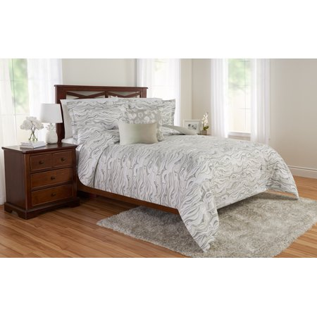 Better homes and gardens marble waves comforter set, Full/queen