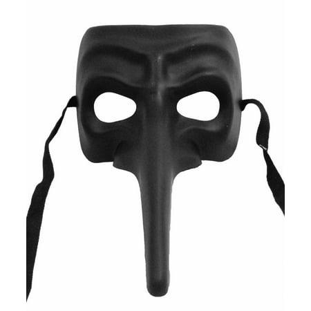 BLACK JOKER PARTY MASK - Long Nose Masks - VENETIAN