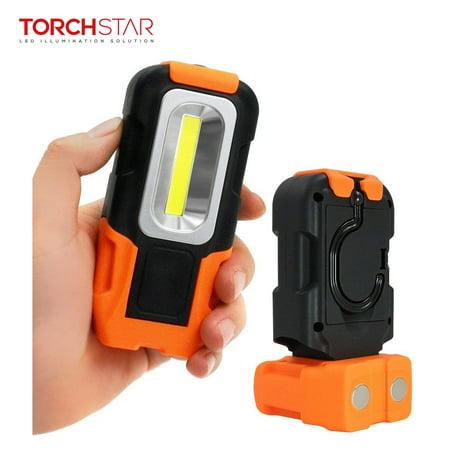 TORCHSTAR Portable LED Work Light, 3W 200lm Multi-use COB Flashlight