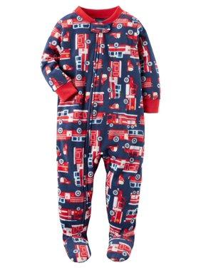 e5e5ec4068 Product Image Carter s Baby Boys  1 Piece Firetruck Fleece Pajamas