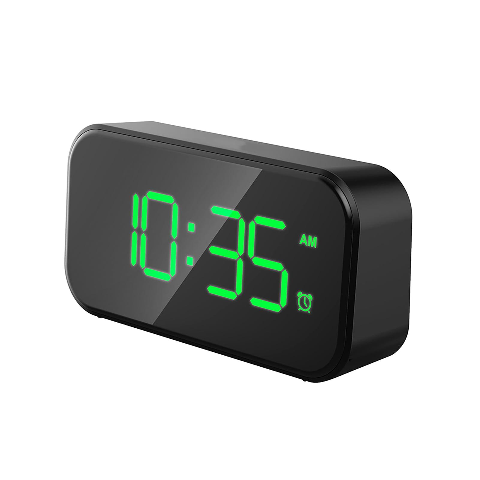 Windfall Led Digital Alarm Clock With Snooze Easy To Set Full Range Brightness Dimmer Adjustable Alarm Compact Clock For Bedrooms Bedside Desk Walmart Com Walmart Com
