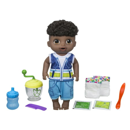 Baby Alive Sweet Spoonfuls Baby Doll Boy Black Hair
