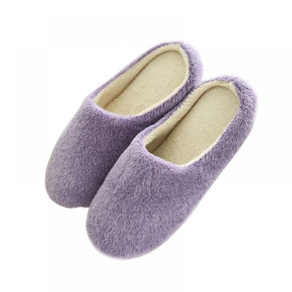Womens Ladies Hard Sole Indoor Outdoor Slippers Shoes Size Moccasin Comfort New