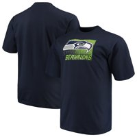 Men's Majestic College Navy Seattle Seahawks Big & Tall Reflective T-Shirt