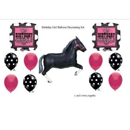 Birthday Girl Rocker Horse Birthday Party Balloons Decorations Supplies by anagram / qualatex](Girls Party Supplies)