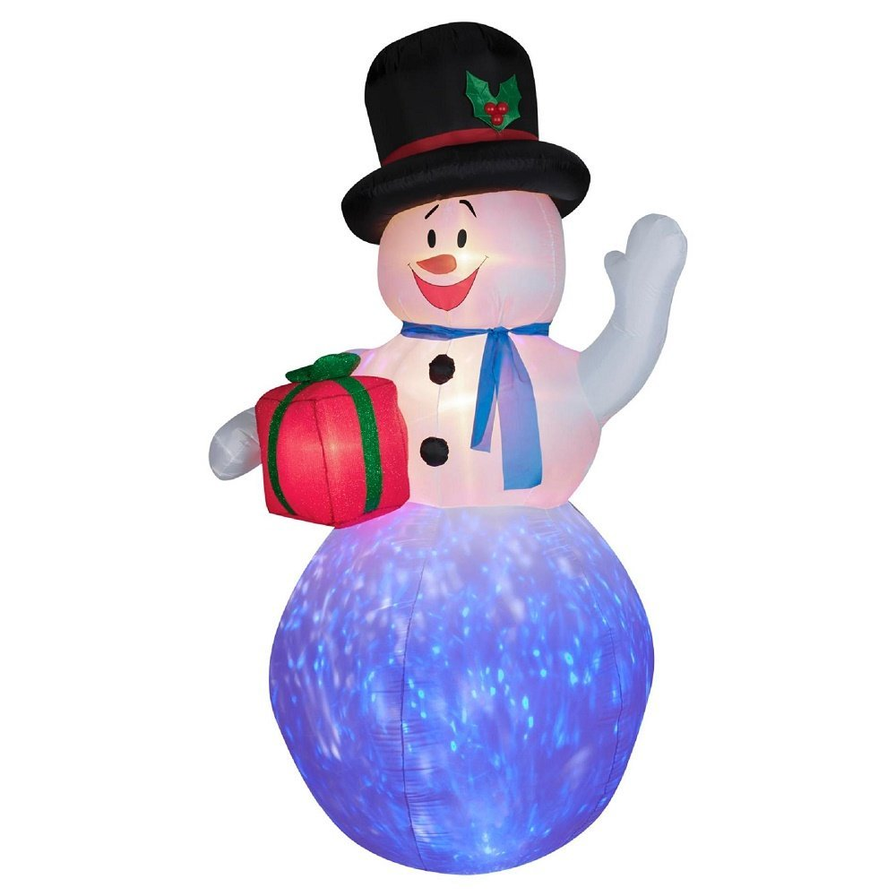 gemmy airblown inflatables christmas gemmy inflateables holiday projection air blown kaleidoscope snowman decor walmartcom - Christmas Airblown Inflatables