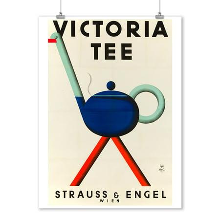 Victoria Tea Vintage Poster (artist: Lobl) Austria c. 1930 (9x12 Art Print, Wall Decor Travel Poster)